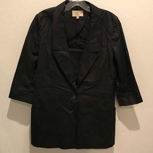 ELIZABETH & JAMES Black Crop Sleeve Jacket US 4